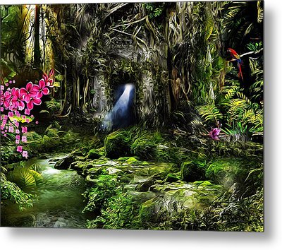 A Secret Place Metal Print by Gabriella Weninger - David