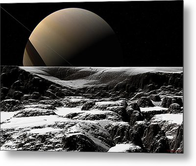 Metal Print featuring the digital art A Sense Of Scale  by David Robinson
