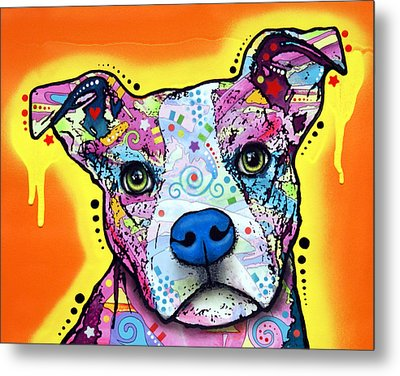 Metal Print featuring the painting A Serious Pit by Dean Russo
