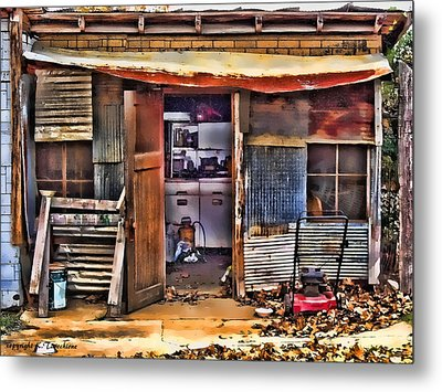 Metal Print featuring the photograph A Shack In Harrison by Kathy Tarochione