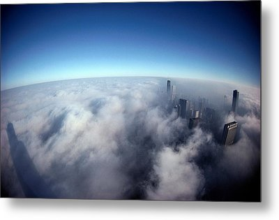 A Shadow Of The Sears Tower Slants Metal Print by Steve Raymer