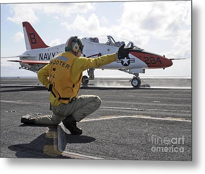 A Shooter Launches A T-45 Goshawk Metal Print by Stocktrek Images