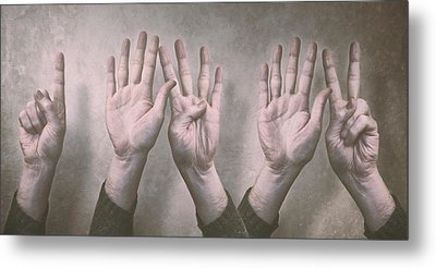 A Show Of Hands Day 197 Metal Print by Scott Norris
