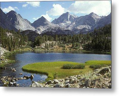 A Sierra Mountain Lake In Summer Metal Print by Stephen Sharnoff