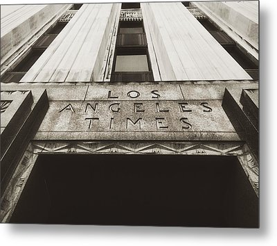 A Sign Of The Times - Vintage Metal Print by Mark David Gerson