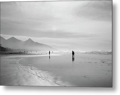 A Silver Day On The Beach Metal Print by Dan Dooley