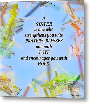 A Sister - Signed Digital Art Metal Print