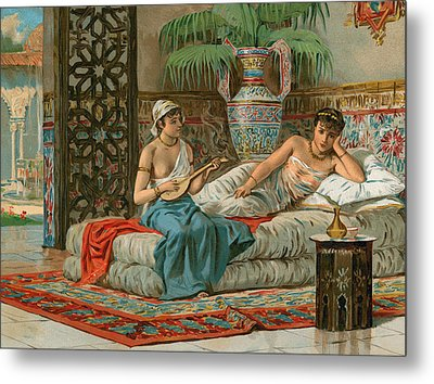 A Slave In The Harem Metal Print by Dionisio Baixeras-Verdaguer