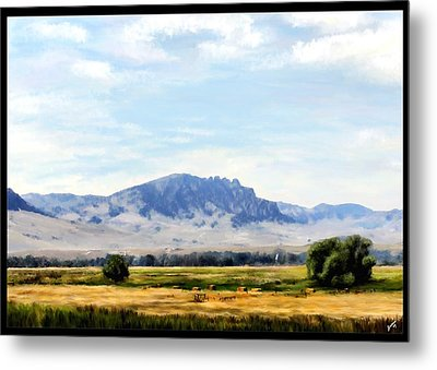 Metal Print featuring the painting A Sleeping Giant by Susan Kinney