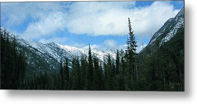 A Slice Of Heaven North Cascades Motivational Artwork By Omashte Metal Print by Omaste Witkowski