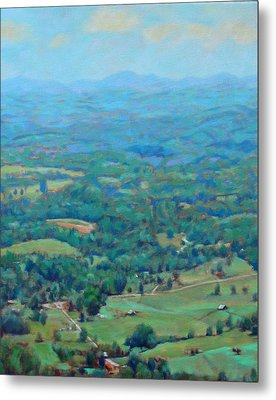 A Slow Summer's Day- View From Roanoke Mountain Metal Print