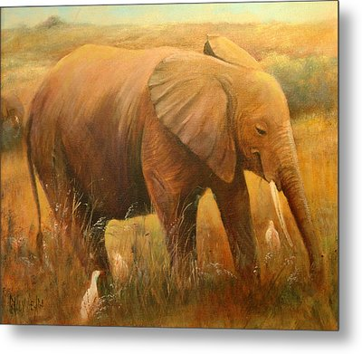 A Smiling Baby Metal Print by Sally Seago
