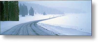 A Snowy Route 14, Near Cedar Breaks Metal Print by Panoramic Images