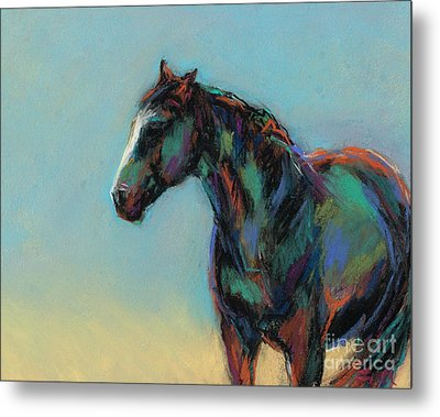 Metal Print featuring the pastel A Soft Breeze by Frances Marino