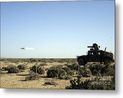 A Soldier Tests His Skill With The Tube Metal Print by Stocktrek Images