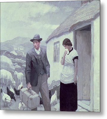 A Son Of His Father  Metal Print by Newell Convers Wyeth