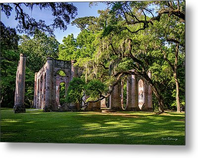 A Special Place Old Sheldon Church Ruins Metal Print by Reid Callaway