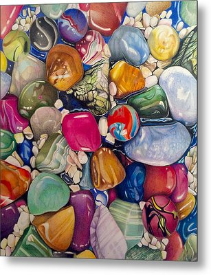 A Splash Of Color And Hardness Metal Print