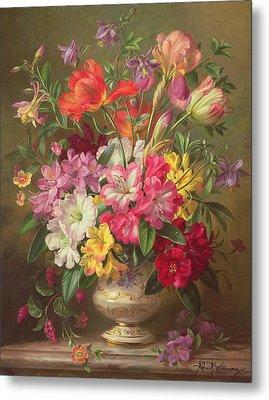 A Spring Floral Arrangement Metal Print by Albert Williams