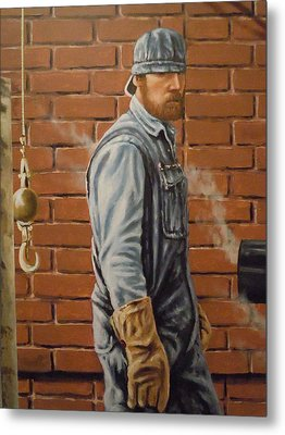 A Steam Fitter's Day Metal Print by James Guentner