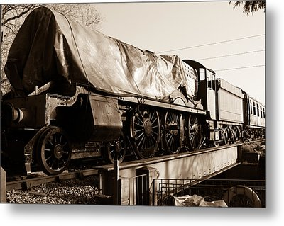 A Steam Train Under The Covers Metal Print