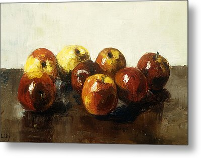 A Still Life Of Apples Metal Print by Lesser Ury