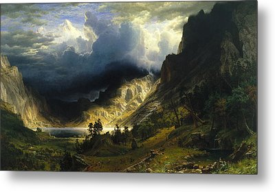 A Storm In The Rocky Mountains Mt. Rosalie, 1866 Metal Print