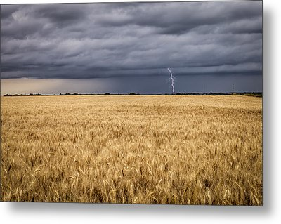 A Storm Passing By Metal Print