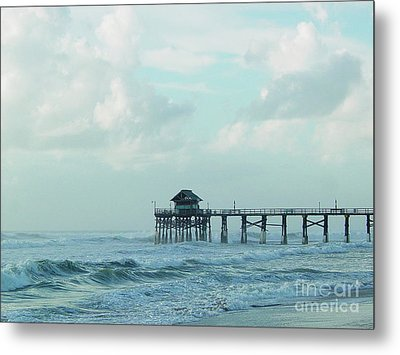 A Storm's Brewing Metal Print