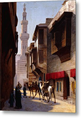 A Street In Cairo Metal Print by Jean Leon Gerome