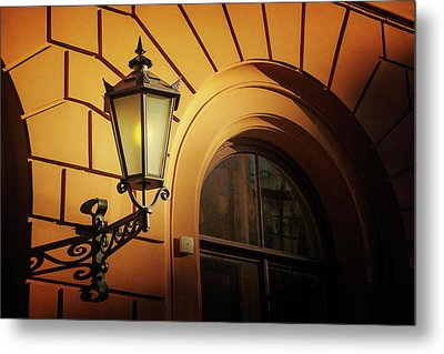 Metal Print featuring the photograph A Street Lamp In Lisbon Portugal  by Carol Japp