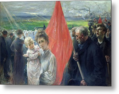 A Strike At Saint Ouen Metal Print