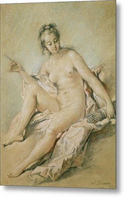 A Study Of Venus Metal Print by Francois Boucher