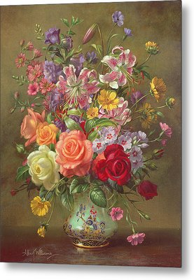 A Summer Floral Arrangement Metal Print