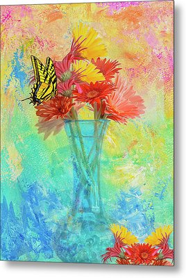 A Summer Time Bouquet Metal Print by Diane Schuster