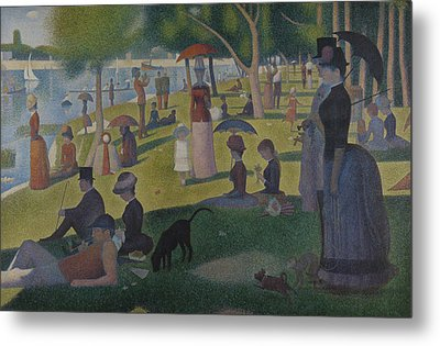 A Sunday Afternoon On The Island Of La Grande Jatte Metal Print by Georges-Pierre Seurat