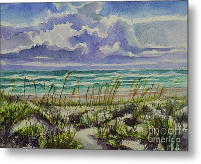 A Sunny Beautiful Day At The Beach Metal Print