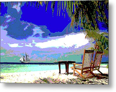 A Sunny Day At The Beach Metal Print