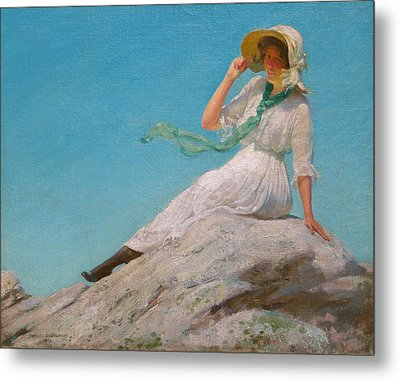 A Sunny Morning  Metal Print by Charles Courtney Curran