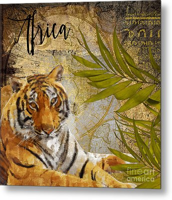 A Taste Of Africa Tiger Metal Print