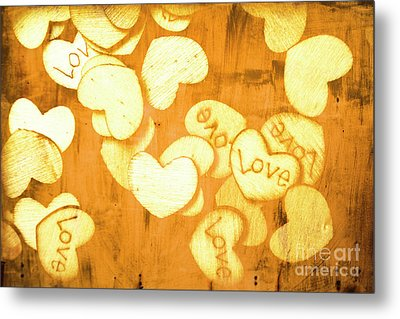 A Texture Of Vintage Love Metal Print by Jorgo Photography - Wall Art Gallery