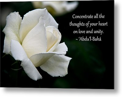 A Thought Of Peace Metal Print by Baha'i Writings As Art