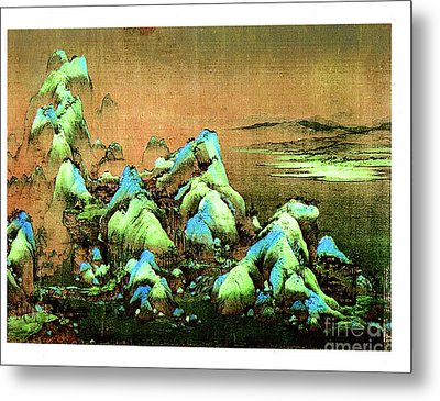 A Thousand Li Of Rivers And Mountains  Ca. 1120-1196 Metal Print by Merton Allen