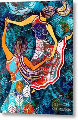 Metal Print featuring the painting A Time To Dance by Julie Hoyle
