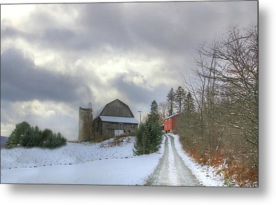 Metal Print featuring the photograph A Touch Of Snow by Sharon Batdorf