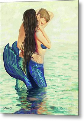 Metal Print featuring the painting A Treasured Love by Leslie Allen