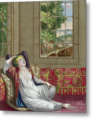 A Turkish Woman Metal Print by Gerard Jean Baptiste Scotin