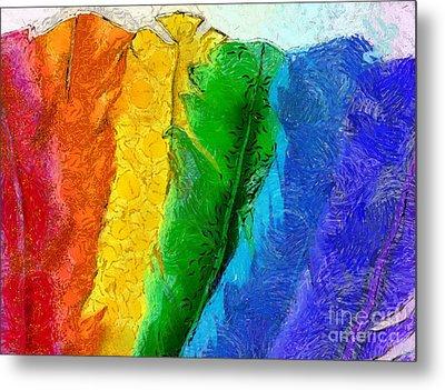 A Unique Rainbow Metal Print by Krissy Katsimbras