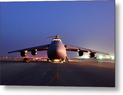 A U.s. Air Force C-5 Galaxy Aircraft Metal Print