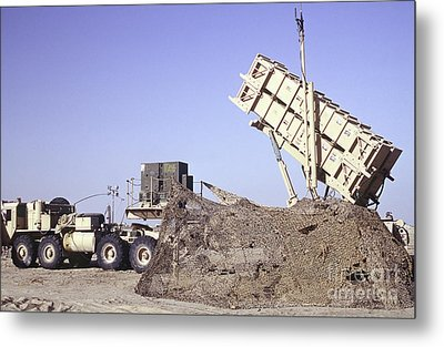 A U.s. Army Patriot Surface-to-air M901 Metal Print by Stocktrek Images